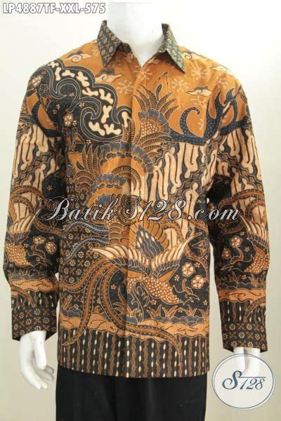 Kemeja Batik Klasik Lengan Panjang kemeja tulis lengan panjang pake furing mewah dan berkelas baju batik klasik jumbo busana kerja