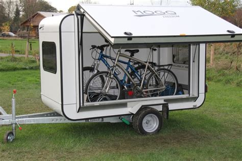 Bicycle Sleeper Trailer by Mogo Caravan Hauls Bicycles Along With A Sleeper For Two