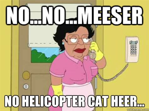 Housekeeper Meme - no no meeser no helicopter cat heer family guy