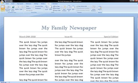 How To Make A News Paper Article - how to make a newspaper on microsoft word