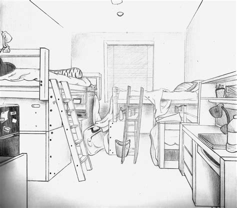 draw a room online draw a room online dorm perspective drawing by sashuka68