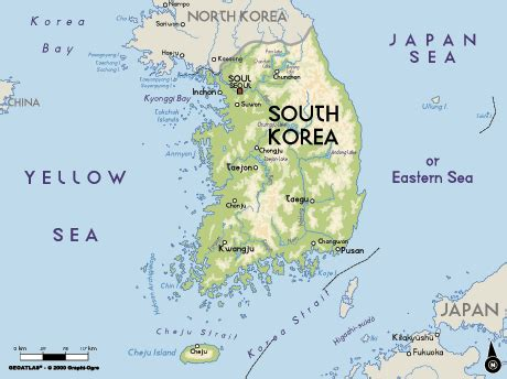 korea physical map 302 found