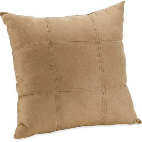 walmart couch pillows mainstays suede brownstone decorative pillow walmart com