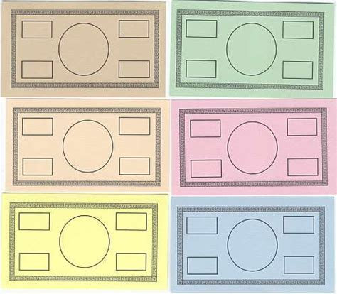 play card board template blank money miller pads and paper llc