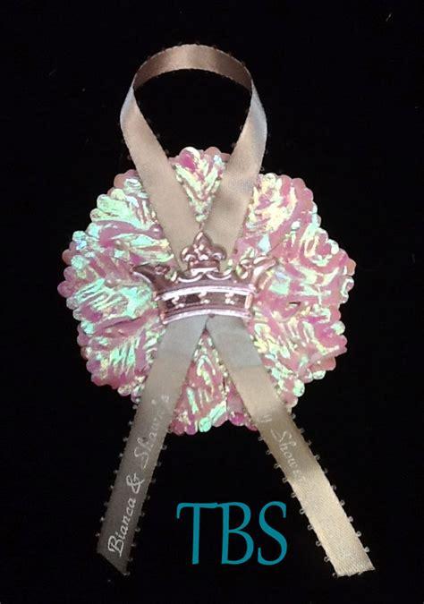 Rosita Silver Maroon 1 princess crown capia pin on with printed ribbon affordable
