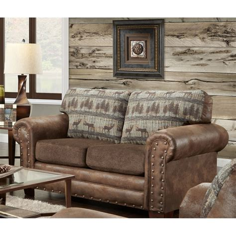 Lodge Sofas by American Furniture Classics Deer Teal Lodge Sofa Sleeper