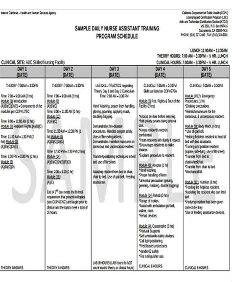 training program schedule templates 5 free word pdf
