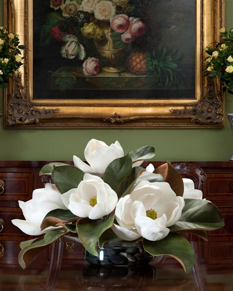Centerpiece For Dining Room Table buy this amazing magnolia silk flower centerpiece at