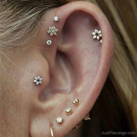 lobe helix and tragus piercing