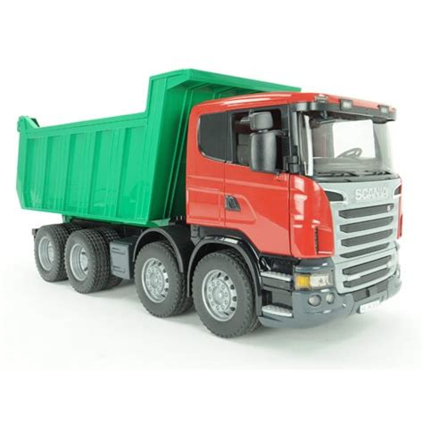 trucks kid bruder scania r series deluxe dump truck educational