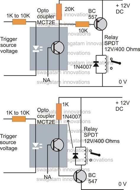 simple transistor relay driver how to drive a relay through an opto coupler circuit circuit diagram centre