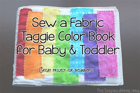 upholstery books for beginners diy sew a fabric color book for baby toddler the