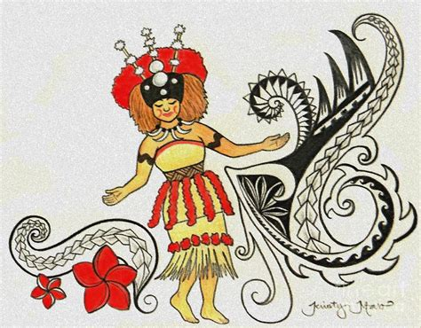 taupou samoa drawing by kristy mao