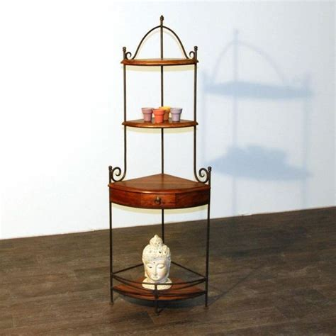 etagere ouedkniss etagere d angle bois et fer forge