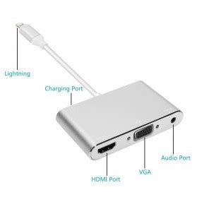 Hv9248 Hdmi To Vga Adapter With Audio Port Kode Bis9302 1 adapter converter lightning to hdmi vga with audio port silver jakartanotebook