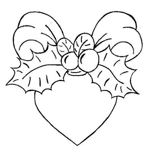 Christmas Heart Coloring Page | coloring page christmas heart coloring me