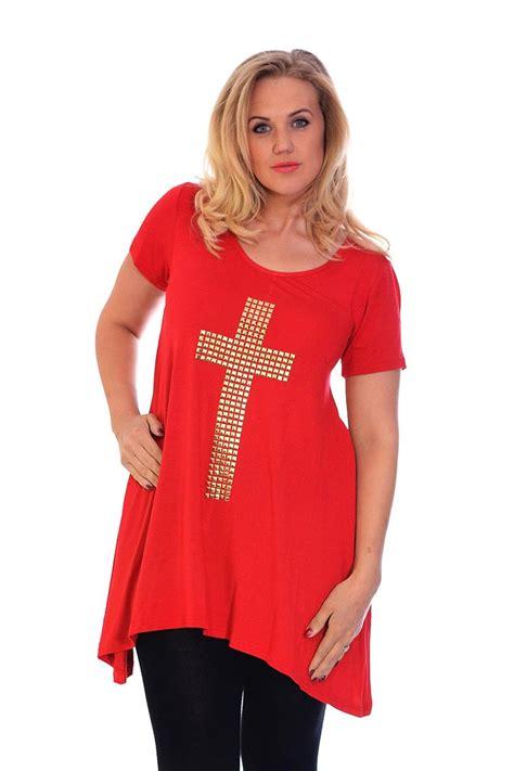 Kesha Tunik Asymmetric Blouse new womens asymmetric hem cross stud top tunic blouse nouvelle plus size ebay