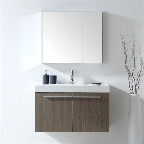 wall mounted bathroom vanity cabinet only 36 inch wall mounted single bathroom vanity grey oak