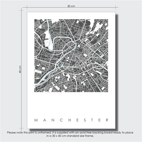 manchester map print limited edition by bronagh