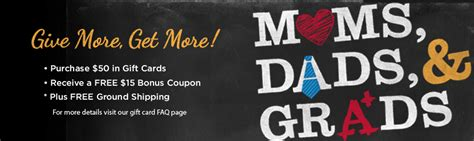 Restaurants With Gift Card Specials 2013 - moms dads and grads bonus gift card offers for 2013 common sense with money