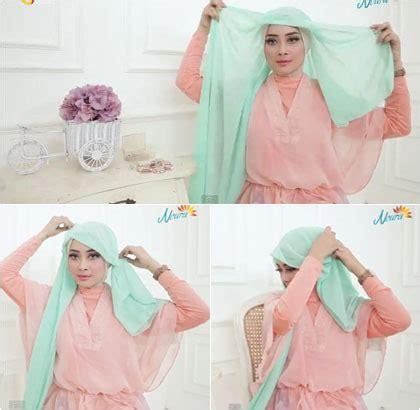 tutorial hijab menggunakan anting bergaya eksentrik pakai satu anting dengan tutorial hijab ini