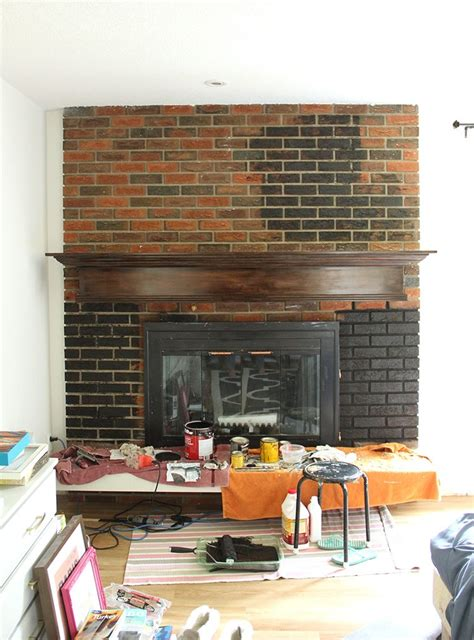 painted brick fireplace makeover how painted brick fireplace fresh crush