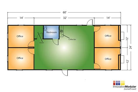 64 x 48 clinic building floor plan permanent modular portable buildings for government facilities temporary