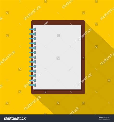 sketchbook icon sketchbook icon flat illustration sketchbook vector stock