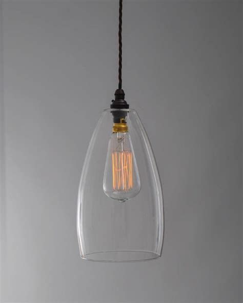Glass Pendant Lights Uk Upton Clear Glass Pendant Light Fritz Fryer