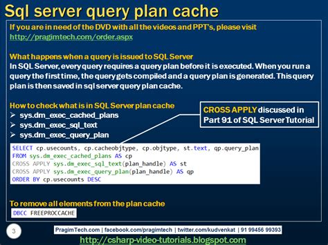 sql query plan tutorial sql server net and c video tutorial