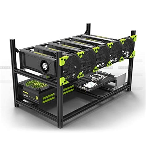 Rak Casing Mining Rig For 4 8 Vga Aluminium Rx 580 Rx580 Gtx 1070 computers accessories components find offers and compare prices at wunderstore