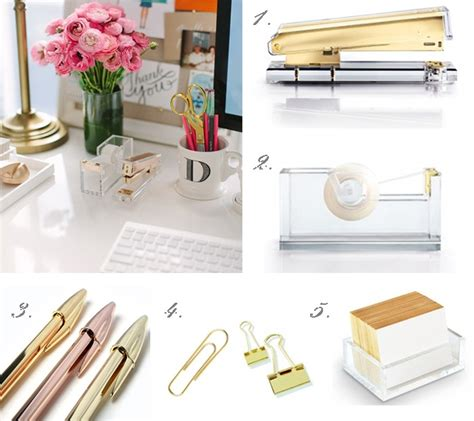 gold desk accessories small office space