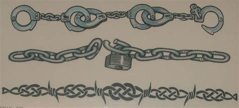 handcuffs tattoo designs armband cuffs chains celtic barb 5700 163 1 60
