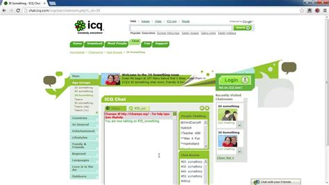 chat rooms how to join icq chat room without installing icq client