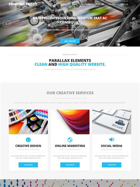 Online Printing Web Template Photo Printing Art Photography Dreamtemplate Printing Website Template