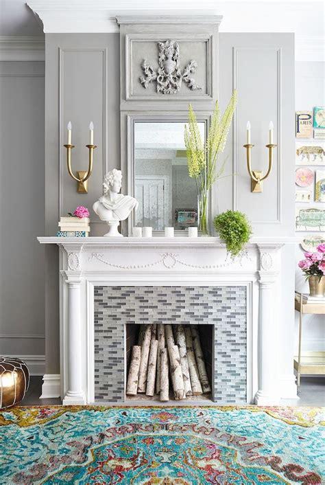 creative ideas  decorate   working fireplace