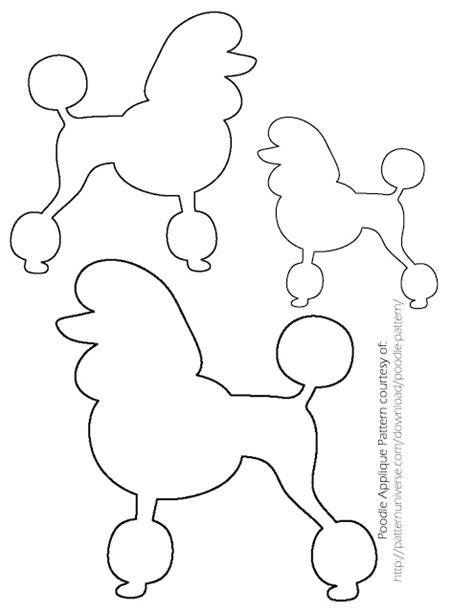 poodle template printable make a poodle skirt for or for breeds