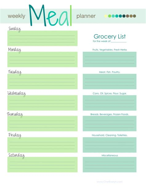 updated free monthly menu planning template and meal list with