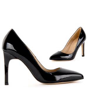 small size black patent leather low price high stiletto
