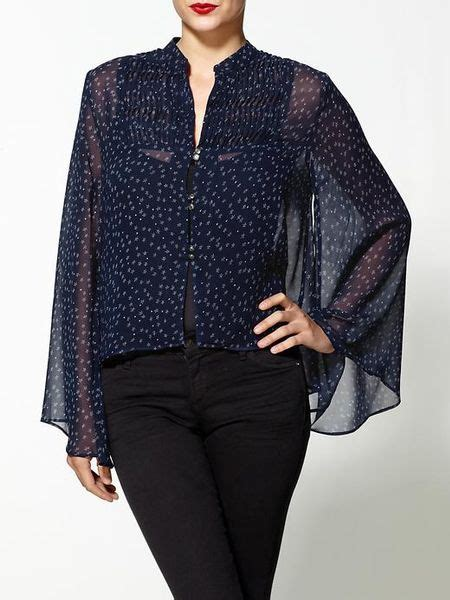 Top Cheche dv by dolce vita cheche print top in blue navy cr 232 me print lyst