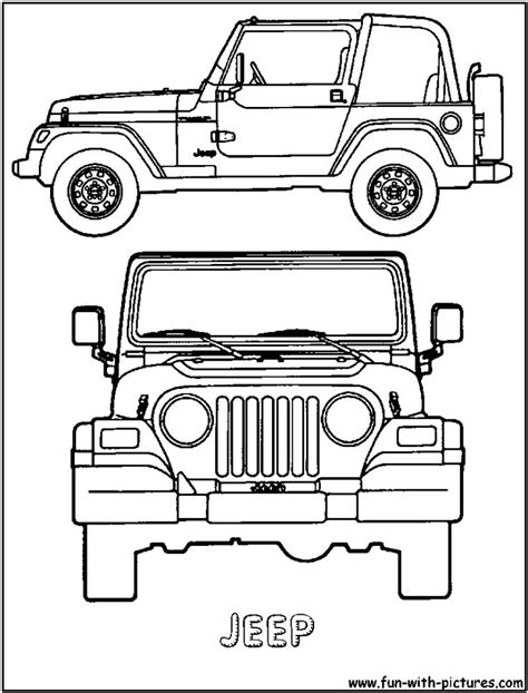 jeep rubicon coloring pages 22 best cars coloring pages images on pinterest cars