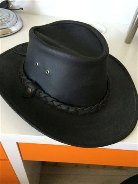 Handmade Mens Hats - handmade wranglercowboy leather hat for sale in templeogue