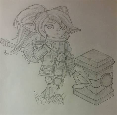 K Drawing Lol by Poppy S Rework League Of Legends By Cutiepieera On