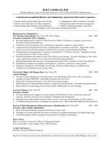 senior administrative assistant cover letter sle