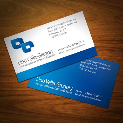And Gas Business Card Templates by Serious Professional Business Card Design For Navikor