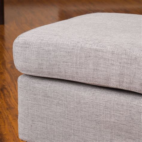 grey fabric ottoman christabel grey fabric ottoman footstool great deal