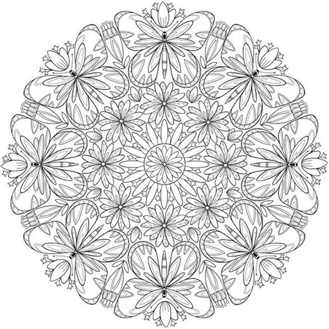 butterfly mandala coloring page free butterfly flower mandala printable coloring page from