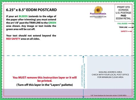 postcard mailing template eddm template 6 5 x 9 eddm postcard template best of and