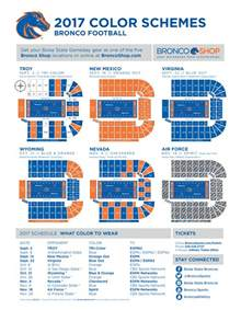 color schemes 2017 broncosports com boise state official athletic site