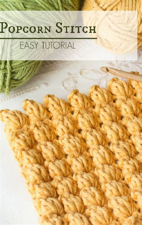 crochet tutorial how to crochet the popcorn stitch easy tutorial